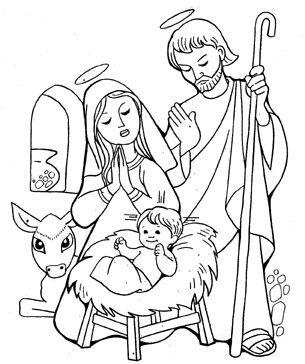 Dibujo Del Nacimiento De Jesus Para Pintar