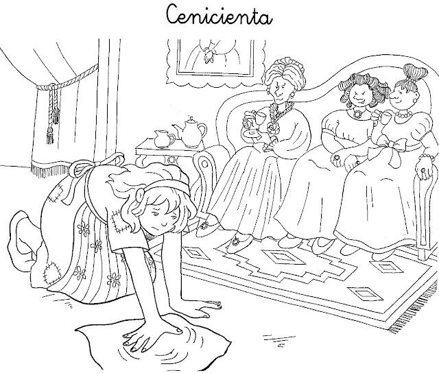 Dibujos Del Cuento De La Cenicienta Para Imprimir Y Colorear