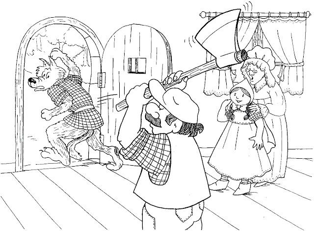 Dibujos De Caperucita Y El Lobo Para Imprimir Y Colorear El Cuento