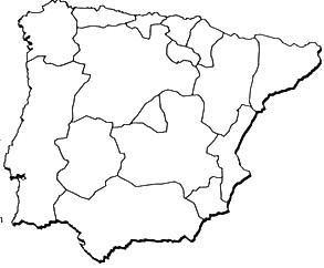 Mapa De España Colorear.Mapa De Espana Para Colorear