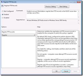 Windows 7 & Reverse Lookup DNS Registration | ADdict