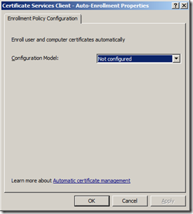 Error Selecting A Certificate When Configuring NPS | ADdict