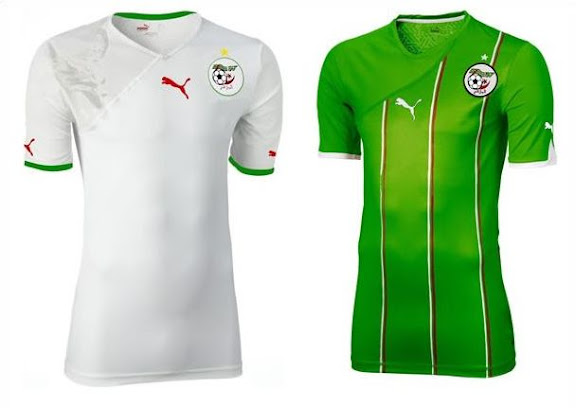 Nouveau maillot Puma de l'équipe nationale d'Algérie