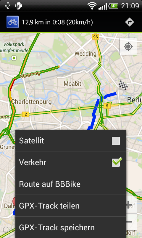 BBBike Android Client- screenshot