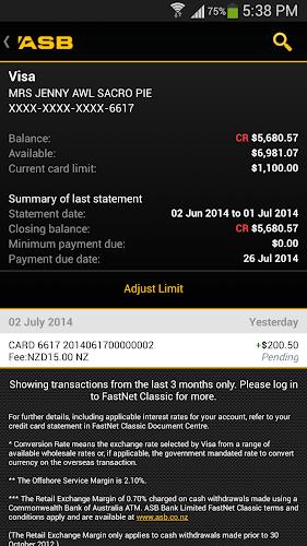 Asb Mobile Banking Android Screenshot