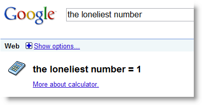 the loneliest number