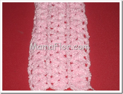 Tejido a Crochet: Punto Conchita con Alto Relieve