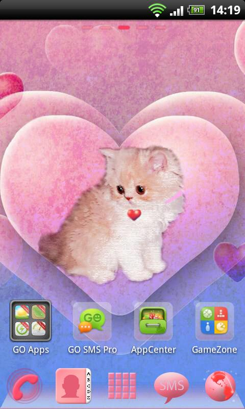 Go Launcher EX Theme Kitty - screenshot