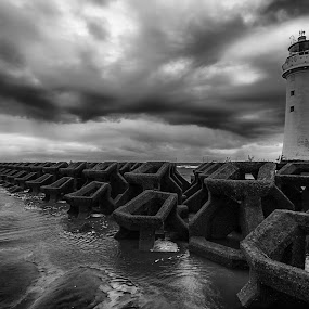 Perch Rock Lighthouse by Ryan Bedingfield - Landscapes Waterscapes