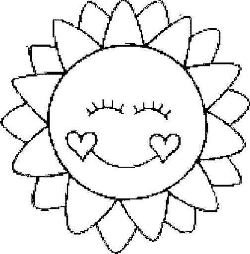 Dibujos del sol y la luna para colorear - Dessin soleil rigolo ...