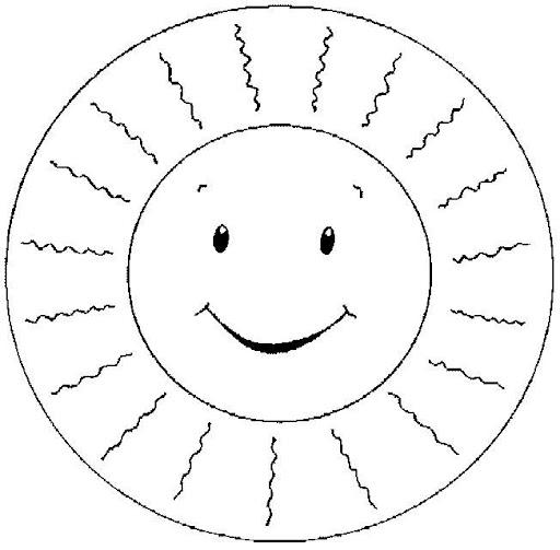 Dibujos del sol y la luna para colorear for Sole disegno da colorare