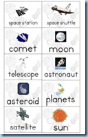 Solar System Building Sentences Space Words