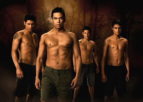 New Moon Wolf Pack (Alex Meraz, Chaske Spencer, Tyson Houseman, Kiowa Gordon)