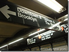 Signs at Fulton Street subway (2)