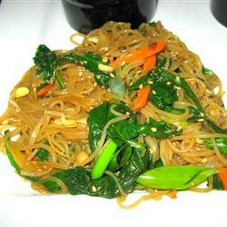 Jap Chae Korean Glass Noodles.