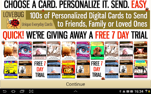 FREE Greeting Cards - screenshot thumbnail