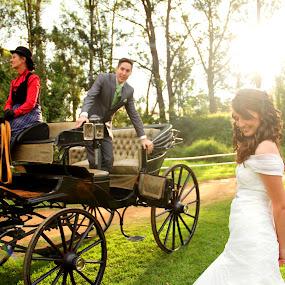 Love story by Béanca Van Heerden - Wedding Ceremony ( love story, wedding, coach, bride, groom )