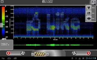 Screenshot of ProSpec Lite Spectrum Analyzer