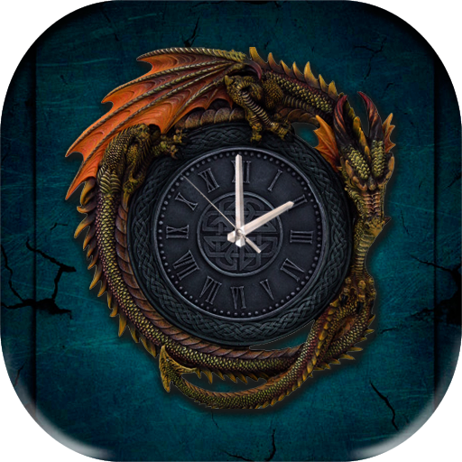 Gothic Dragon Clock Wallpaper 個人化 App LOGO-硬是要APP