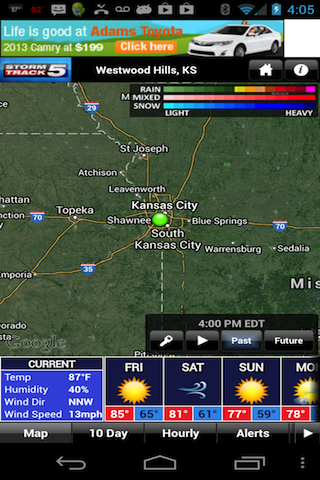 KCTV Stormtrack5 Weather- screenshot