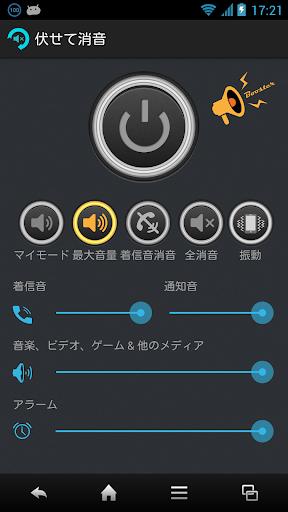 伏せて消音 音量増幅機能付き 自動スクリーンON OFF