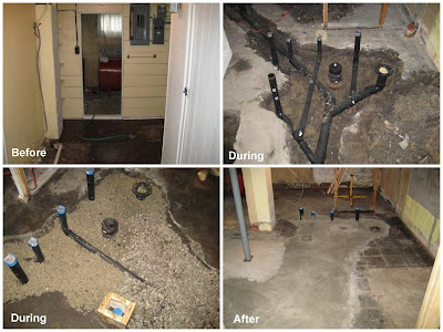 Jen and Dave's Reno: Basement Bathroom Plumbing