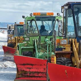 Awaiting a Blizzard by Chris Wangard - Transportation Other ( truck, hokkaido, snow plow )