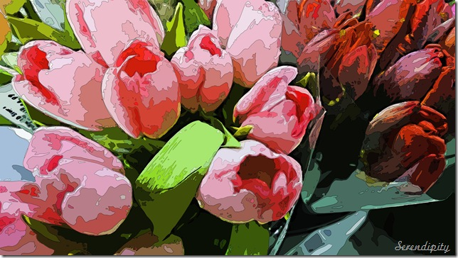 silk screen tulips