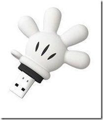 D I S K O N K E Y Mickey Glove Usb Flash Drive