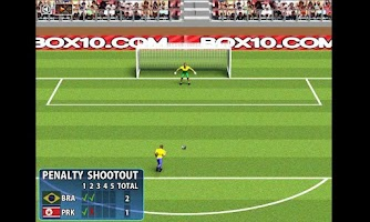 Screenshot of Penalty ShootOut football game