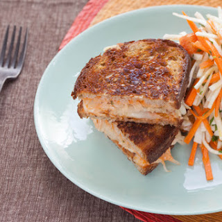 Tempeh Reuben Sandwiches on Rye with Carrot & Celery Root Salad
