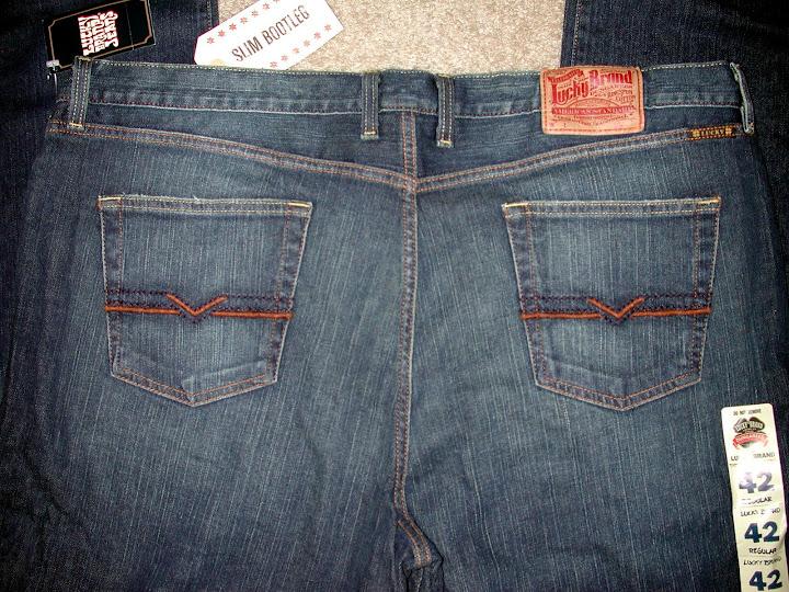 NWT Lucky Brand Slim Boot Leg Mens Jeans Sz 40 42