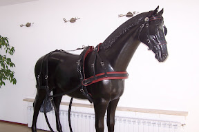 Leather horse harness style 18 carriage driving
