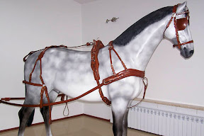 Leather horse harness style 2 carriage driving
