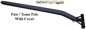 Type 01 Horse Carriage Black Padded Team Pair Poles