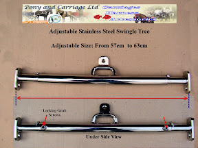Adjustable Horse Carriage Stainless Steel Swingle Trees