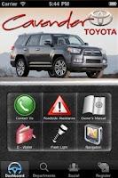 Screenshot of Cavender Toyota