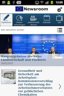 EU Newsroom - screenshot thumbnail