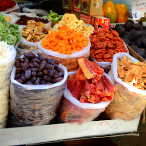 Market  by Rita Uriel - City,  Street & Park  Markets & Shops ( market, shuk  camel, prune, fruits, avocado, plums, peaches,  )