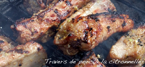 Travers de porc à la citronnelle
