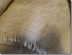 Burlap close up