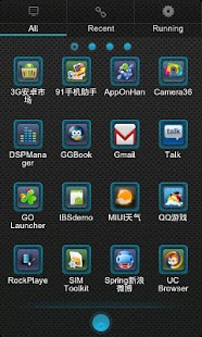 Blux Theme GO Launcher EX - screenshot thumbnail