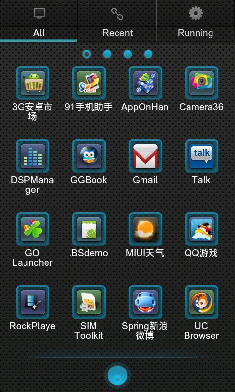 Blux Theme GO Launcher EX - screenshot