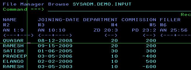 how do you view comp-3 fields? - IBM Cobol