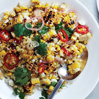 Charred and Raw Corn with Chile and Cheese.