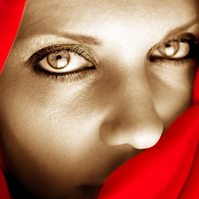 Mystique by Sotiris  Filippou - People Portraits of Women ( muslim, expression, arabic, face, person, mystery, arab, sad, covering, beauty, pretty, burka, eyes, caucasian, religion, looking, cover, girl, style, attractive, woman, tradition, burqa, dark, head, smiling, closeup, black, eye, ethnic, diversity, peaceful, beautiful, mysterious, white, traditional, portrait, red, islam, female, hidden, lips, healthy, eastern, scarf, religious, culture )