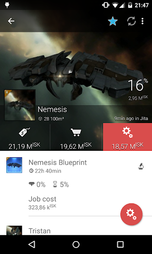 Industrial tool for Eve online