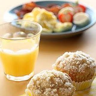 moist Chiquita Banana Apple Streusel Muffins.