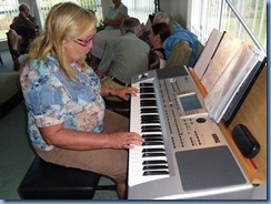 Desiree Barrows enjoying the Korg Pa80
