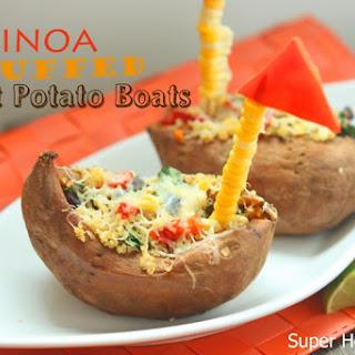 Quinoa Stuffed Sweet Potato Boats.